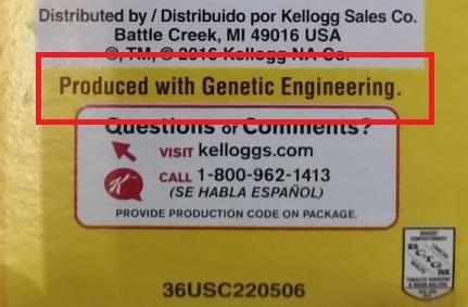Corn Pops Genetic Engineering Label